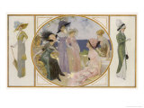 Garden Party Frocks 1911 Giclee Print by Rene Lelong