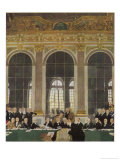 The Peace Treaty is Signed in the Palace of Versailles Gicléetryck av Sir William Orpen