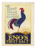 Eno's Fruit Salt, First Thing Every Morning Giclee Print by E. Mcknight