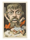 Jean Mounet-Sully French Actor in a Frighteningly Dramatic Role: a Satirical Depiction Giclee Print by  Moloch
