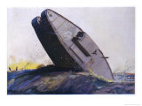 Tank on Rough Ground Giclee Print by Graham Simmons