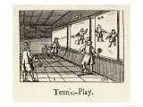 The Ball is Played Against a Side Wall Giclee Print by Comenius Orbis