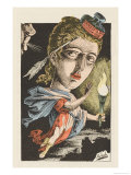 The Press Personified as a Searcher after the Truth Amid the Surrounding Darkness Giclee Print by  Moloch