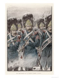 Grenadiers of the Garde Imperiale in Action in Falling Snow Reproduction proc&#233;d&#233; gicl&#233;e par Job 