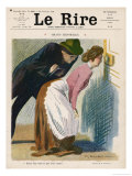 Maid and Reporter 1909 Giclee Print by Auguste Roubille