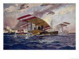 An Austrian Hansa-Brandenburg Seaplane is Forced Down Giclee Print by Alex Kirkheff