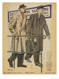 Men's Coats 1943 Giclee Print by  Henjic