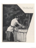 Bradford Wool Worker Working in Intense Heat Giclee Print by H. Pifford