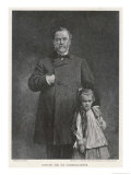 Louis Pasteur French Chemist and Microbiologist with His Granddaughter Giclee Print by T. Johnson