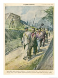 Gibraltar: Spanish Workers are Blindfolded as They Go to Work So They Won't See Things Gicleetryck av Vittorio Pisani