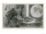 Thanks to the Recent Invention of Radio Ships Will be Able to Avoid Collision Even in Fog Giclee Print by Henri Lanos