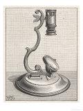Baker's Mounted Lens Microscope Giclee Print by  Poyet