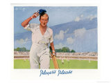 Cricket Player Raises His Cap as He Retires from the Pitch Giclee Print by Septimus Scott
