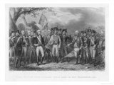 The British Surrender Their Arms to the American Army at Yorktown Premium Giclee Print by J.f. Renault