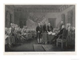 The Signing of the Declaration of Independence in Philadelphia Giclee Print by W. Greatbach