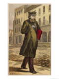 London Characters: The Commissionaire Giclee Print by H.w. Petherick