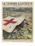 Ethiopians Conceal Men and Munitions Under a Red Cross Flag Giclee Print by Vittorio Pisani