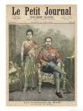 Rama V Known as Chulalongkorn King of Siam and His Wife Lámina giclée prémium por Henri Meyer