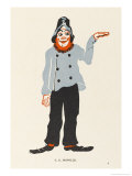 T E Dunville (Real Name Wallon) Music Hall Entertainer Giclee Print by Elizabeth Pyke