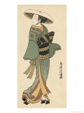 The Celebrated Actor Tomedjuro Nakamura in the Female Role of Kaishi Giclee Print by Torii Kiyomitsu