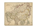 Map of Asia Giclee Print