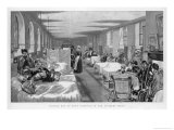 Visiting Day in the Accident Ward of Guy's Hospital Giclee Print by William Small
