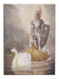 Lohengrin Arrives in a Boat Drawn by Elsa's Brother Godfrey Giclée-Druck von Norman Price