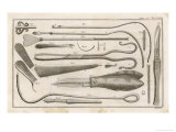 Variety of Surgical Instruments Giclee Print by J. Mynde