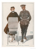 Aux Champs Elysees: Une Scene Bien Parisienne Giclee Print by Georges Leonnec