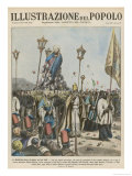 Italians Bring the Trappings of Roman Catholicism to the Ethiopians Giclee Print by E. Mainetti