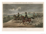 British Cavalry Regiment Involved in a Skirmish in Open Country Giclee Print by J. Harris