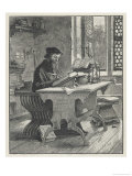 John Wyclif Religious Reformer Depicted Writing Giclee Print by H.m. Paget