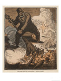 Turks Rout the English at Gallipoli Giclee Print by Wilhelm Schulz