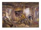 Germans Make Themselves at Home in a French Farmhouse Giclee Print by Felix Schwormstadt