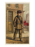 London Characters: The Telegraph Boy is the Human Link in the Cha Giclee Print by H.w. Petherick