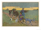 Farm People Giclee Print by H. Rappin