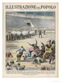 Communists Execute 320 Anarchists in a Barcelona Bullring Giclee Print by E. Mainetti