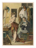 An Actress Receives an Admirer in Her Dressing Room Giclee Print by D. Eusebio Planas