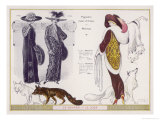 Fox Fur Stole 1912 Giclee Print by Jacques Nam