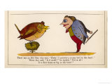Hush! I Perceive a Young Bird in This Bush! Premium Giclee Print by Edward Lear