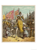 Queen Elizabeth I's Accession to the Throne is Marked by Rejoicing Among the People Giclee Print by Joseph Kronheim
