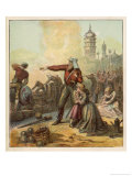 British Troops Defend the Town of Lucknow Giclee Print by Joseph Kronheim