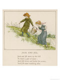 Here are Jack and His Sister Jill Making Their Way up the Hill Premium Giclee Print by Kate Greenaway