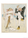 Two Holidaymakers Take Things Easy in Their Beach Chairs Giclee Print by  Proessdorf