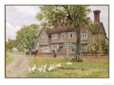 Farmhouse at Brent Eleigh Suffolk Giclee Print by A.r. Quinton
