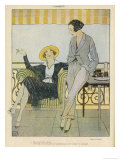 Trouser Suit 1919 Giclee Print by Leonnec
