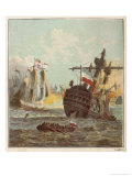 Dutch Fleet Defeated Giclee Print by Joseph Kronheim