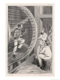 Sailor is Punished by Being Made to Work the Treadmill in Hobart Tasmania Giclee Print by A. Legrand