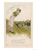 As I was Going up Pippin Hill Pippin Hill was Dirty: There I Met a Sweet Pretty Lass Giclee Print by Kate Greenaway