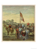 Great Review of 80000 Volunteers by Queen Victoria in Hyde Park Giclee Print by Joseph Kronheim